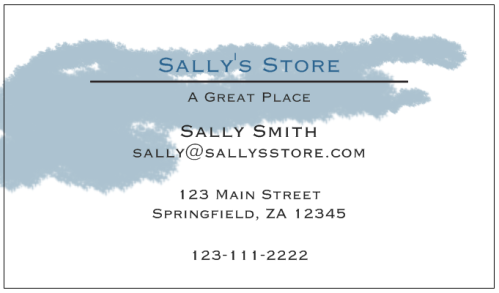 business card 1 watercolor
