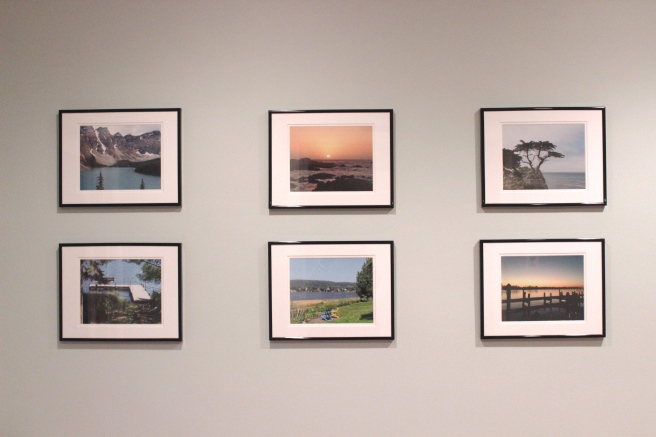 Vacation photos made into a gallery wall