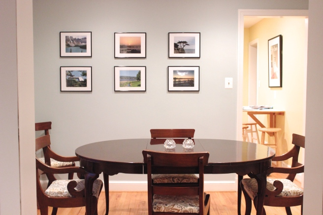 Vacation photo frames gallery wall
